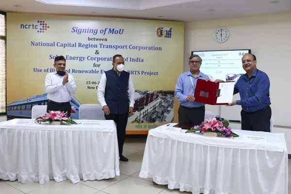 MoU signed to use renewable energy in Delhi-Meerut RRTS Corridor