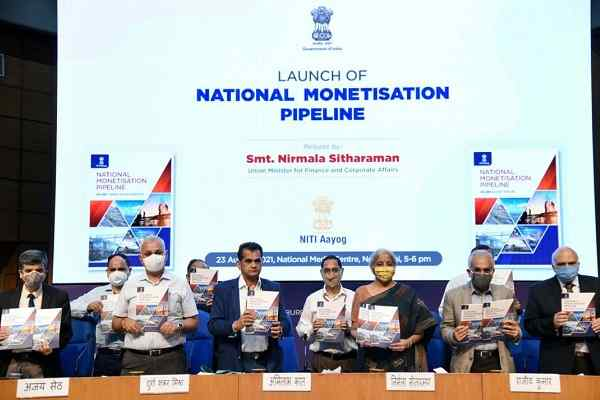 Govt. of India unveils Rs 6 lakh crores National Monetisation Pipeline (NMP)